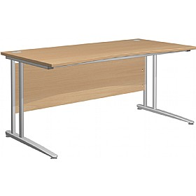 NEXT DAY Gravity Standard Double Wave Cantilever Desk £214 - Next Day Office Furniture
