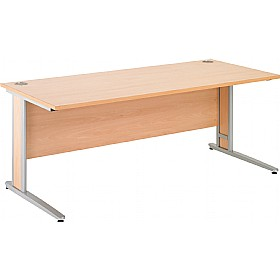 NEXT DAY Gravity Deluxe Shallow Rectangular Cantilever Leg Desk £156 - Next Day Office Furniture