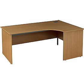 NEXT DAY Nova Plus Ergonomic Panel End Desks £161 - Next Day Office Furniture