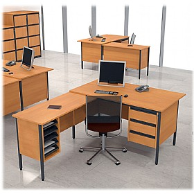 NEXT DAY Nova Contract L-Shaped Desks £256 - Next Day Office Furniture