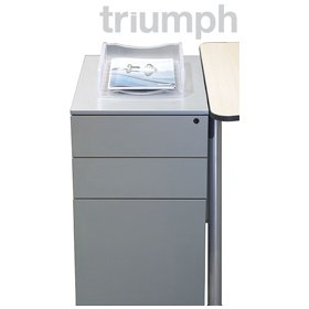 Triumph Everyday Steel Desk High Pedestals £140 - Filing Cabinets