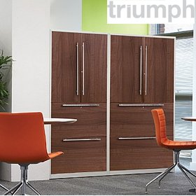 Triumph Metrix n Wood Combination Units £585 - Office Desks