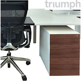 Triumph Metrix n Wood Pedestals £138 - Office Desks