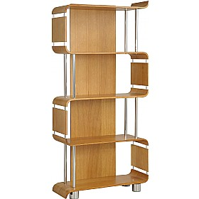 Spectrum Real Wood Veneer Bookcase Oak £298 - Home Office Furniture