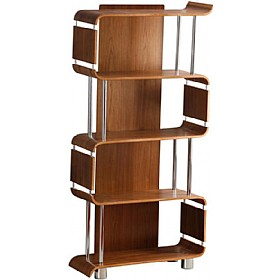 Spectrum Real Wood Veneer Bookcase Walnut Spectrum Home Walnut Bookcase