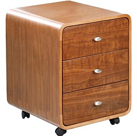Spectrum Real Wood Veneer Pedestal Walnut Spectrum Home Walnut Drawer Pedestal