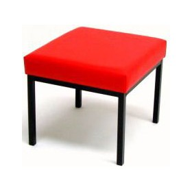 Fun Low Rectangular Gallery Lexaire Vinyl Stools £49 - Office Chairs