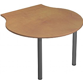 Solar Desk End Shell Meeting Table £142 - Office Desks