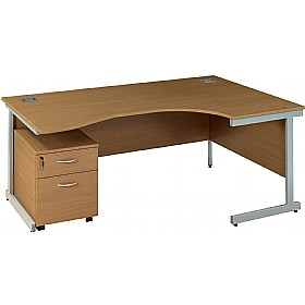 Solar Cantilever Ergonomic Desks With Mobile Pedestal £250 - Office Desks