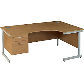 Solar Cantilever Ergonomic Desks With Single Fixed Pedestal £248 - Office Desks