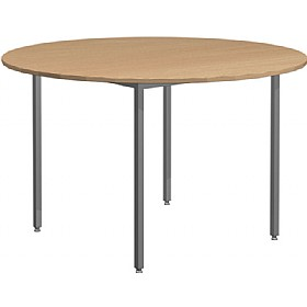 Solar Contract 4 Leg Round Meeting Tables £110 - Office Desks