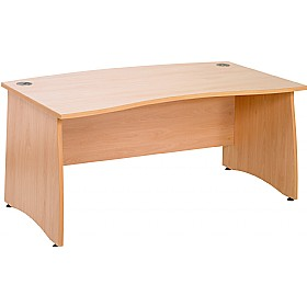 Gravity Contract Panel End Double Wave Bow Desk £195 - Office Desks