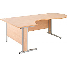 Gravity Deluxe Ergonomic Conference Cantilever Desk £318 - Office Desks