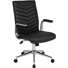 Martini Leather Faced Executive Chair £151 - Office Chairs