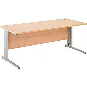 Gravity Plus Shallow Rectangular Cantilever Leg Desk £176 - Office Desks