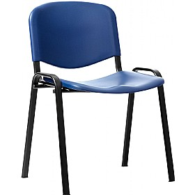 Plastic Stacking Chairs Pack Of 4 Canteen Chairs