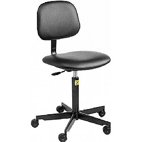 Static Dissipative Vinyl Chair With Castors £144 - Office Chairs