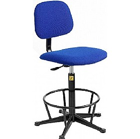 Static Dissipative Fabric High Chair £133 - Office Chairs