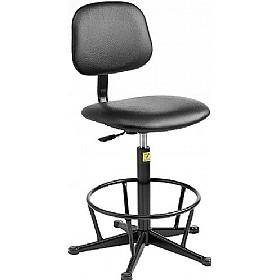 Static Dissipative Vinyl High Chair £133 - Office Chairs