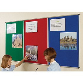 Shield® Resist-A-Flame Aluminium Frame Multibank Noticeboards £119 - Display/Presentation