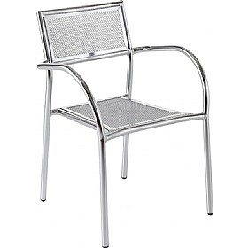 Crowne Mesh Aluminium Bistro Chair £56 - Bistro Furniture