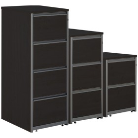 NEXT DAY Eclipse Black Filing Cabinets £156 - Next Day Office Furniture