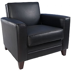 Romany Leather Faced Armchair £362 - Reception Furniture