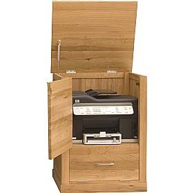 Cavalli Solid Oak Printer Cupboard Computer Desks