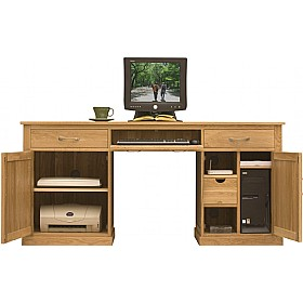 Cavalli Solid Oak Executive Computer Desk £577 - Computer Desks