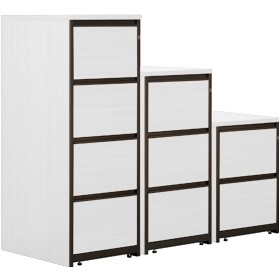 Next Day Vogue White Filing Cabinets £166 - Next Day Office Furniture