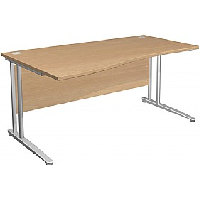 Gravity Standard Wave Cantilever Desk £193 - Office Desks