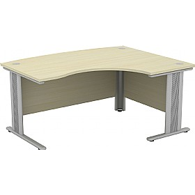 Accolade Bow Fronted Ergonomic Desks £418 - Office Desks
