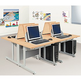 SmartTop ICT Desks - Two Person Computer Desks £949 - Education Furniture