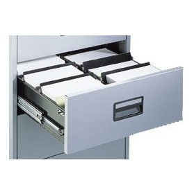 Silverline Media & Card Index Filing Cabinets Dividers (5Pk) £0 - Filing Cabinets