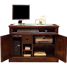Argento Solid Mahogany Computer Desk Hideaway | Static Computer Desks