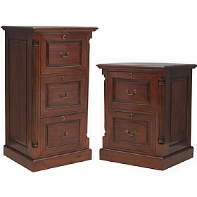 Argento Solid Mahogany Filing Cabinets £0 - Filing Cabinets