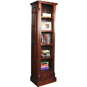 Argento Solid Mahogany Narrow Bookcase £523 - Home Office Furniture