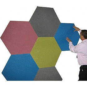Sundeala FRB Quality Hexagonal Noticeboard £30 - Display/Presentation