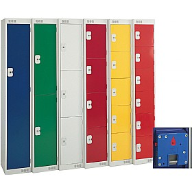 British Standard Metric Coin Return Lockers With Biocote £0 - Education Furniture