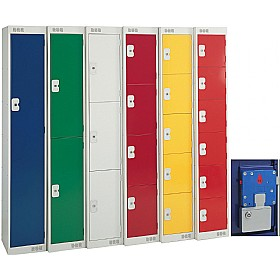 British Standard Metric Coin Retain Lockers With Biocote £0 - Education Furniture