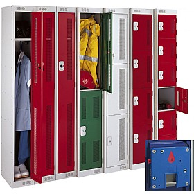 Perforated Door Coin Return Metric Lockers With Biocote £115 - Education Furniture