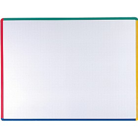 Citadel Coloured Frame Non Magnetic Dry Wipe Board £24 - Display/Presentation