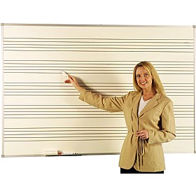 Province Dry Wipe Magnetic Whiteboard With Music Staves £113 - Display/Presentation