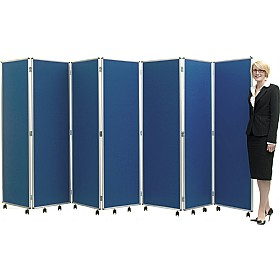Antibacterial Concertina Mobile Room Divide £551 - Display/Presentation
