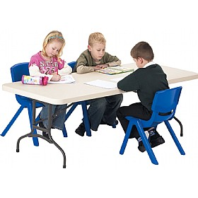 Blow Moulded Height Adjustable Folding Education Tables £0 - Education Furniture