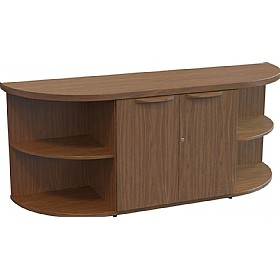 Sven Fulcrum Accent Real Wood Veneer Open Curved Credenza £2069 - Office Desks