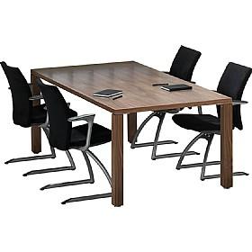 Sven Fulcrum Accent Real Wood Veneer Boardroom Table Wood - Wooden boardroom table