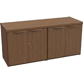 Sven Fulcrum Accent Real Wood Veneer 4 Door Credenza
