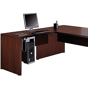 Andorra Real Wood Veneer Return Desk £780 - Posh Office Furniture