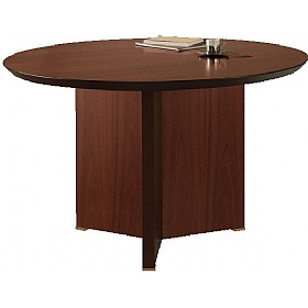 Andorra Real Wood Veneer Circular Meeting Table £1321 - Office Desks
